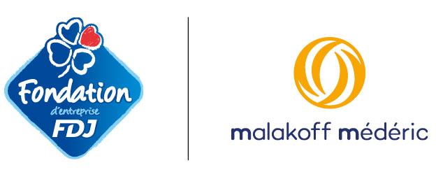 Logos Fondation d'entreprise FDJ et Malakoff Médéric