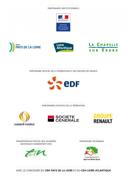 Les Partenaires des Journées Nationales Handisport