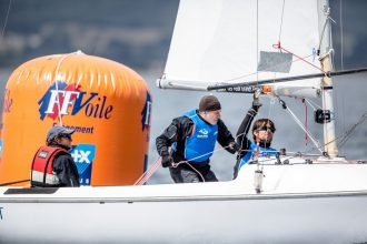 l'Equipe de France Sonar - Crédit ©Pedro Martinez-Sailing Energy-World Sailing