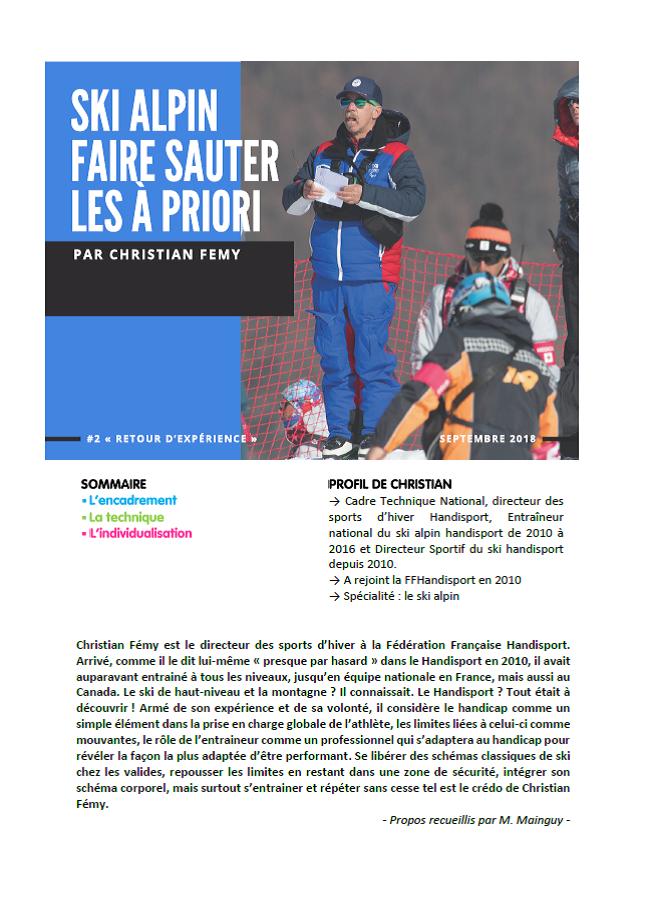 Christian Fémy - Ski alpin, faire sauter les à priori