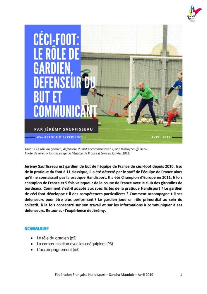 Jérémy Sauffisseau - Céci-foot
