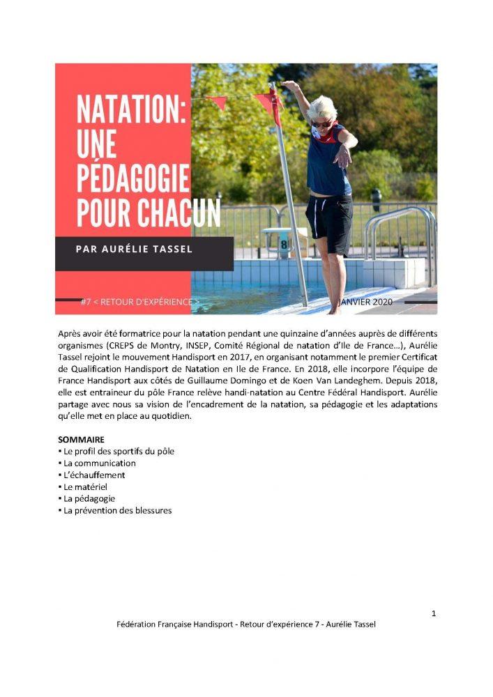 Aurélie Tassel - Natation