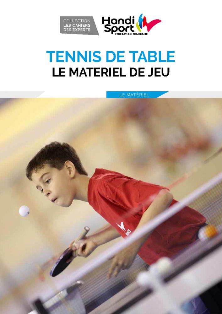 Tennis de table - le matériel de jeu