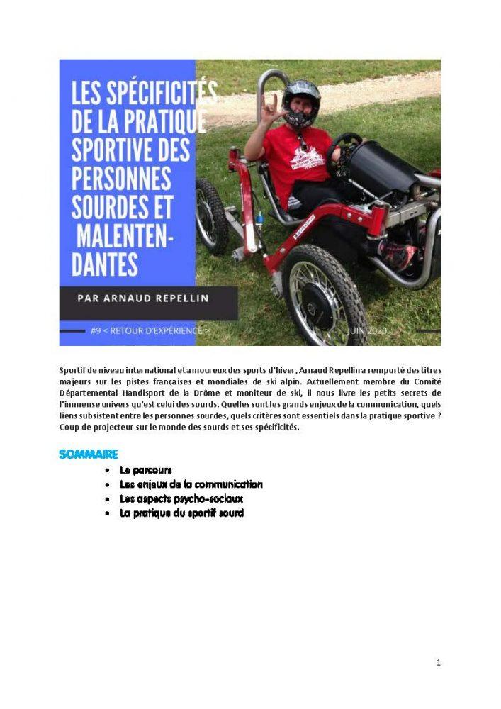 Arnaud Repellin - la pratique sportive des personnes sourdes et malentendantes